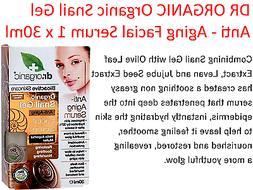1 x 30ml DR ORGANIC Organic Snail Gel Anti - Aging Face Faci