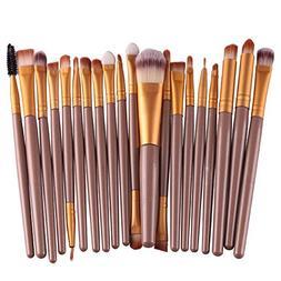 20 pcs/Set Makeup Brush Set Tools Make-up Toiletry Kit Wool