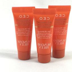 3 Sunday Riley CEO Rapid Flash Brightening Serum .17oz New S