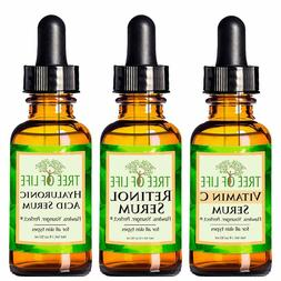 3-Packs Anti Aging serums For Face  with Vitamin C,Retinol,