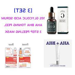 10% Glycolic Acid Face SERUM + 3 Step Peeling Mask + AHA BH