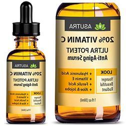 ASUTRA 20% VITAMIN C Anti Aging Serum - ULTRA POTENT & EFFEC