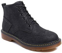 JiYe Women's Shoes Bullock Classic Ankle Boots,Black,9US-Wom