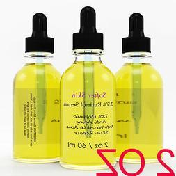 PURE 2 OZ RETINOL VITAMIN A 2.5% Anti Aging Wrinkle Acne Fac