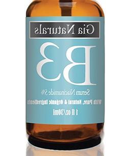 Pure, Organic, Natural Vitamin B3 Serum Cream Niacinamide 5%