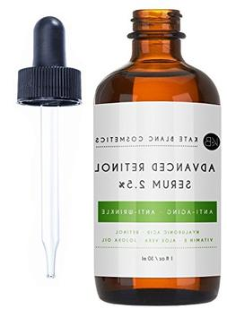 Retinol Serum 2.5% with Hyaluronic Acid & Vitamin E for Face