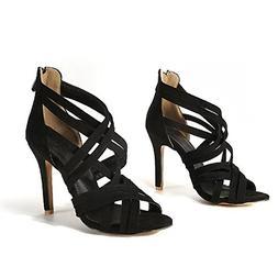 Sky-Pegasus Black red Fashion Summer Ladies Shoes Zip Elegan