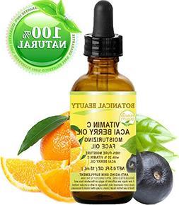 VITAMIN C ACAI BERRY Oil. Moisturizing Face Oil. Anti-aging,