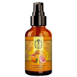 Vitamin C Anti Aging Face Serum Made With Raw Honey Vitamin