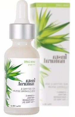 InstaNatural Age Defying &  Skin Clearing Serum -with Retino