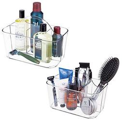 mDesign Bathroom Storage Caddy Divided Bin - 4 Section Tote