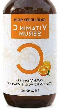 BEST 20% Vitamin C Face Serum + Hyaluronic Acid Vit. E - Ant
