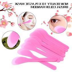 Botrong 10PCS Plastic Makeup Beauty DIY Facial Mask Brush Sp