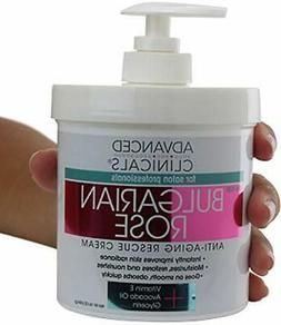 Bulgarian Rose Oil Cream Anti-Aging Rescue for Face, Hands,