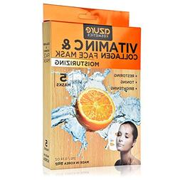 Collagen and Vitamin C Moisturizing Face Mask by Azure - Red