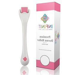 Premium Derma Roller w/ 540 Titanium Micro Needles .25mm Fac