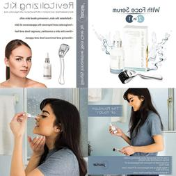 0.25mm Derma Roller Microneedle Kit with Face Serum – Set