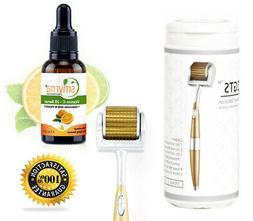 ZGTS Derma Roller Skin Care Set + Vitamin C Serum, Hyaluroni