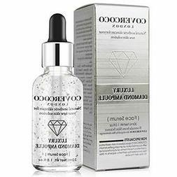 Essence skin care silver foil containing luxury diamond Face