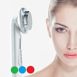 Rika LED facial massager. 3 color Photo LED light therapy Fa
