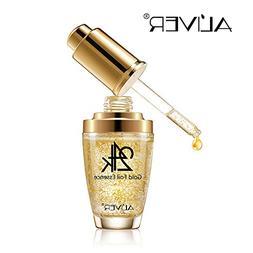 24k Pure Gold Foil Essence Serum, Makeup Primer, Moisturizin