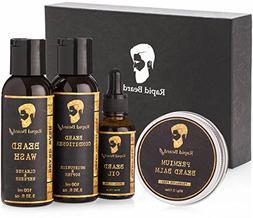 Beard Grooming kit for Men Care - Unscented Beard Oil, Beard
