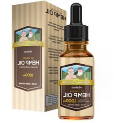 1000mg Hemp Oil Drops - Potent, High-Quality Formula - 100%