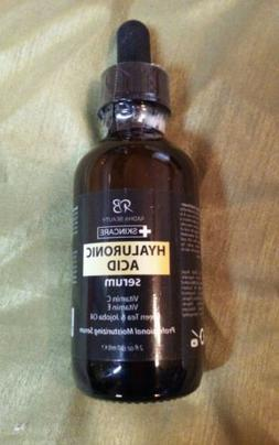 Radha Beauty~Hyaluronic Acid Serum~2 oz.~Vitamin C & E, Gree