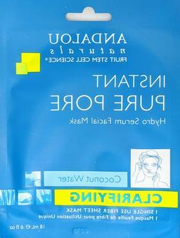 Hydro Serum Facial Mask Clarifying Andalou Naturals 0.6oz Ma