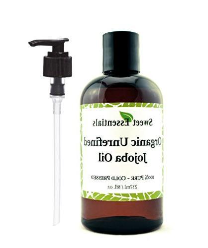 Premium Organic Unrefined Jojoba Oil | 8oz With Pump | Impor