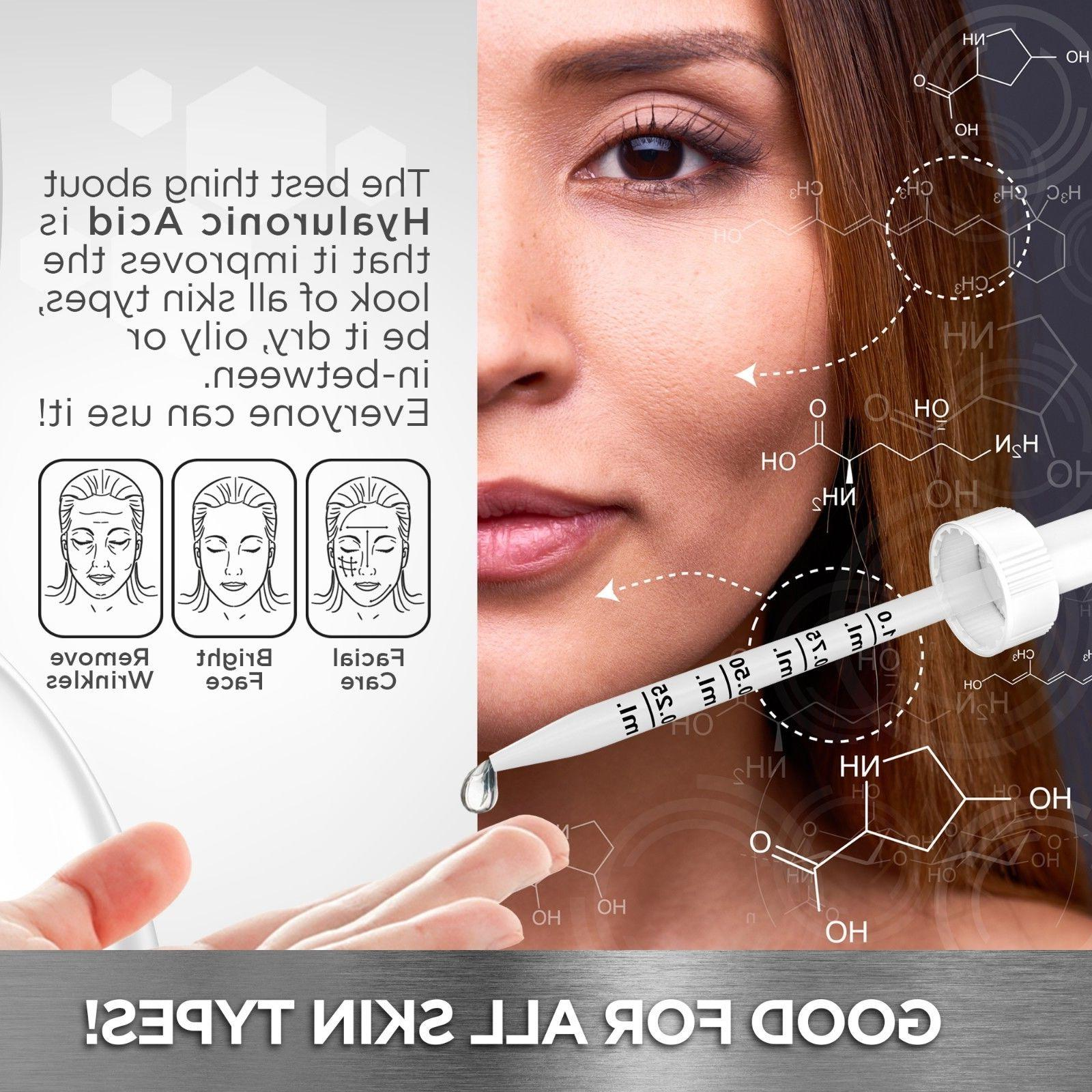 100% HYALURONIC Plumps Anti Aging