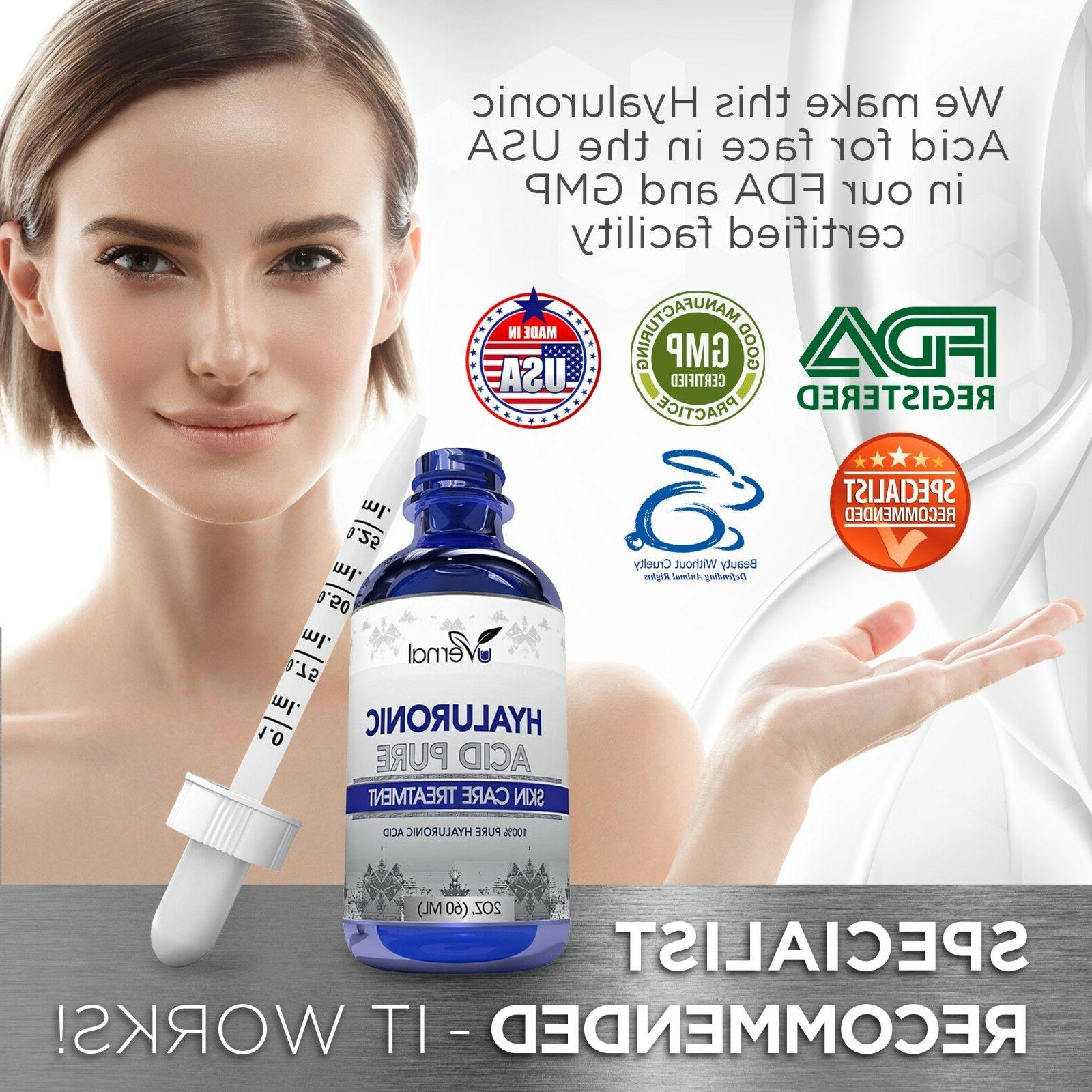 100% HYALURONIC Plumps Wrinkles Hydration Anti Aging oz