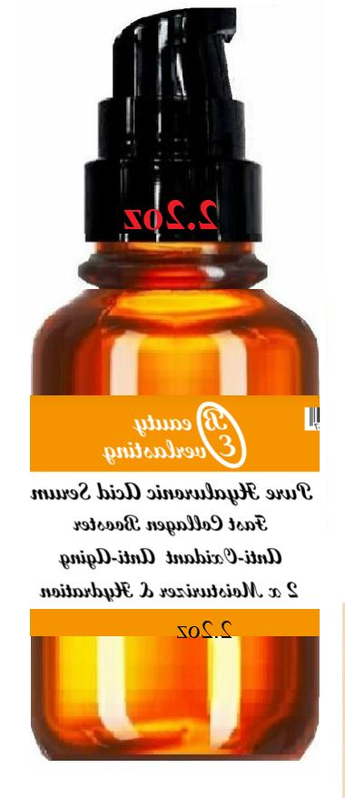 100% PURE  Hyaluronic acid Serum **DOUBLE Strength Formula T
