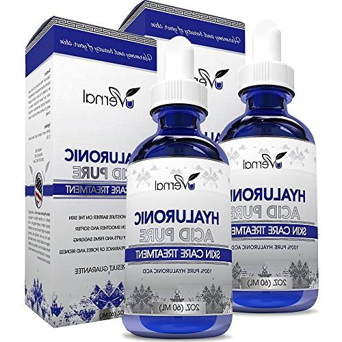 2-Pack Hyaluronic Acid for Skin-100% Pure Medical Quality Cl