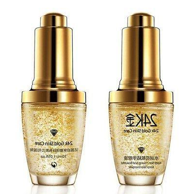 24K GOLD Collagen Serum Liquid Cream Face Care