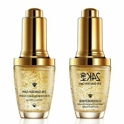 24K GOLD Serum Oil Aging Wrinkles USA