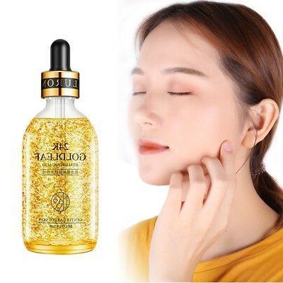 24k gold face serum anti aging hyaluronic
