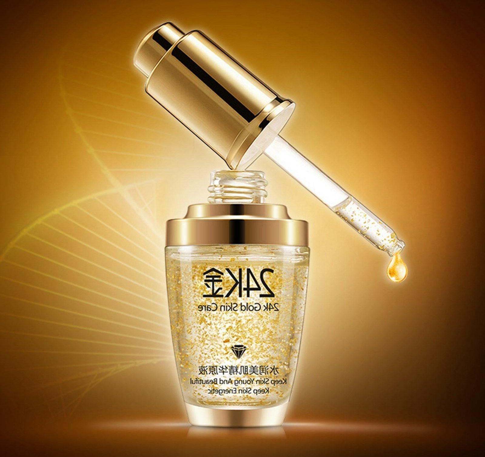 24k Gold Facial Skin Care wrinkle Face Women