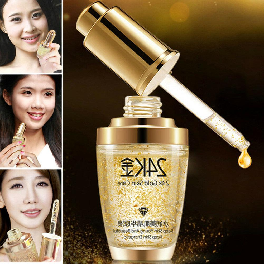 24k gold facial skin care anti wrinkle