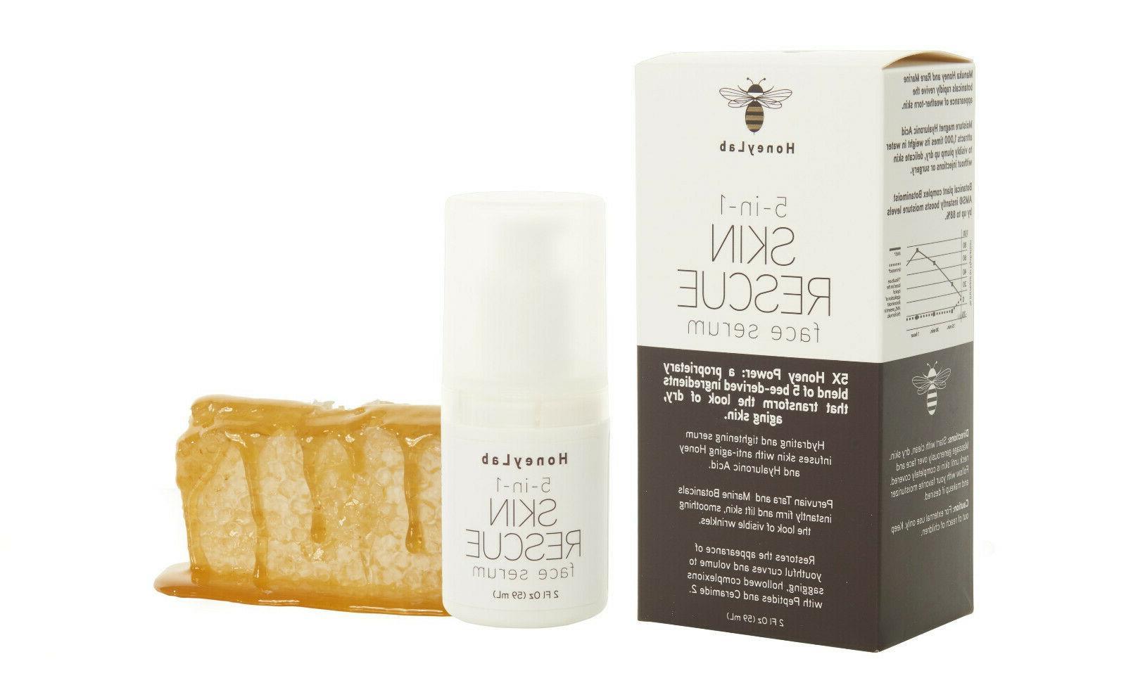HoneyLab 5 1 Skin Face Serum 2 oz New!!