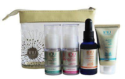 Certified Organic Face Cleanser, Day Cream, Face Serum + Ros