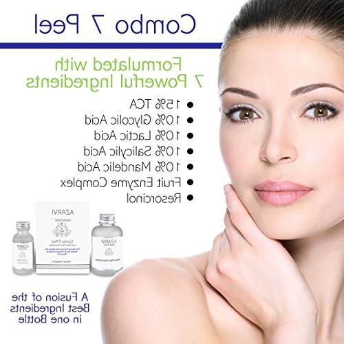 Combo Peel Including After with 15% TCA, Salicylic, Glycolic, Mandelic, Vitamin Resorcinol. Strong Peel Acne,