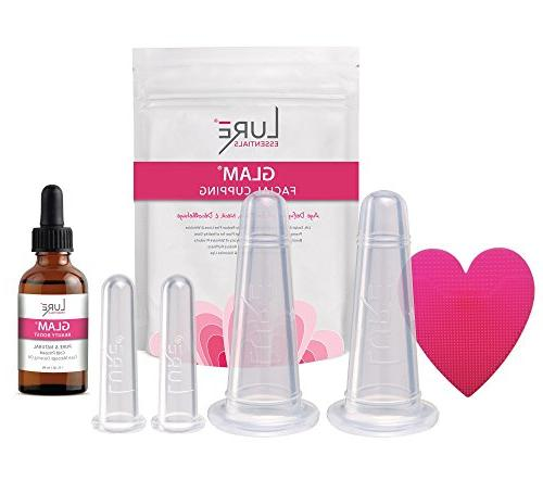 GLAM Face Cupping Facial Set with FREE Oil - Cupping Therapy