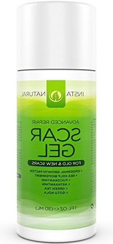 InstaNatural Scar Gel Cream - For Old & New Scars - More Eff