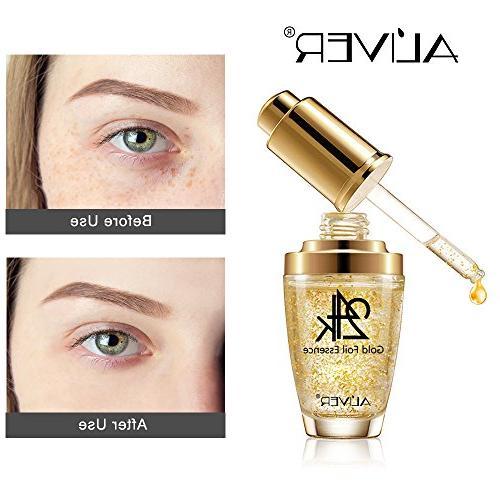 Moisturizer for Face and Eye 24K Gold Essence Wrinkle Moisturizing Firming Cream Treatment for Skin