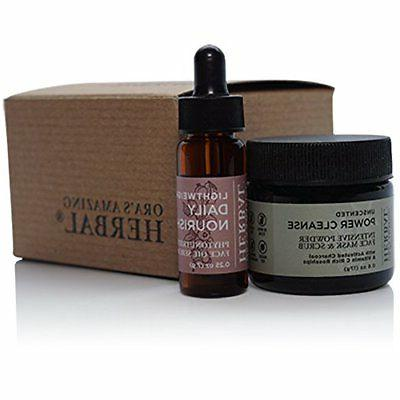 Natural Face Skincare Gift Set, Fragrance Free Power Cleanse