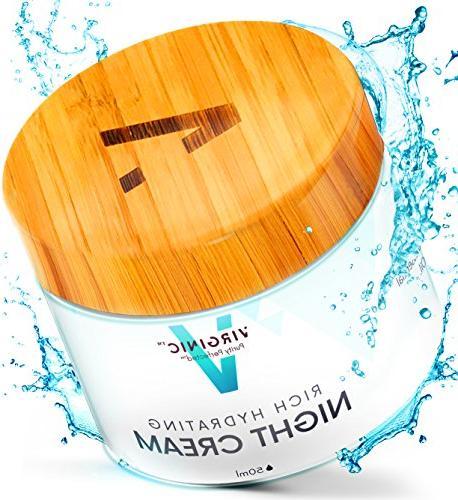 Night Face Cream Anti Aging 2 OZ Dry Oily Sensitive Skin Moi