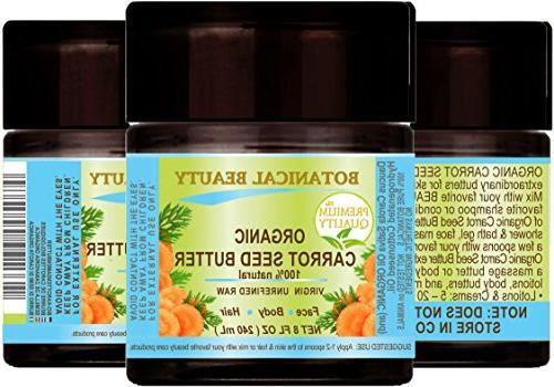 ORGANIC SEED BUTTER WILD GROWTH Daucus Carota .100% Natural VIRGIN UNREFINED. - 240 Skin, Hair,Lip Nail