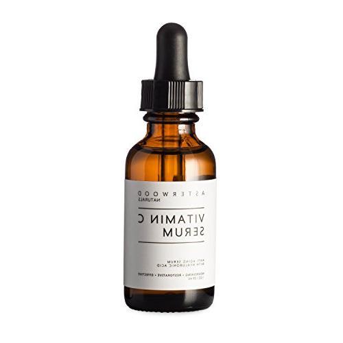 Vitamin C 1 oz Serum with Organic Hyaluronic Acid - Lighten