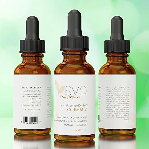 Vitamin Plus 2% Salicylic Acid, MSM, 20% C Skin Clearing Serum Anti-Aging Face Serum